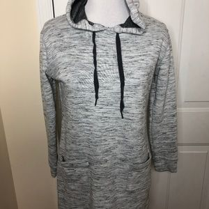 The Limited Hoodie Sweatshirt Dress Grey Small